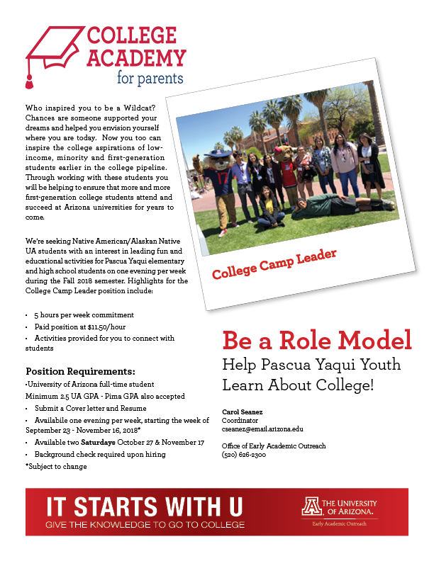 Hiring College Camp Leaders | Native American Science & Engineering ...